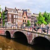 De kanalen van Amsterdam Royalty-vrije Stock Afbeeldingen