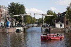 De kanalen van Amsterdam Stock Afbeeldingen