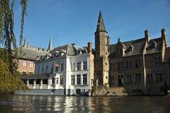 De kanalen van Brugge, België Royalty-vrije Stock Afbeelding