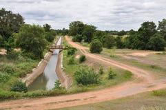 De kanalen van de irrigatie Stock Foto's
