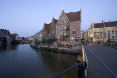 De Kanalen van Gent Stock Afbeelding