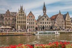 De Kanalen van Gent royalty-vrije stock fotografie
