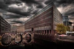 De kanalen van Hamburg Stock Afbeelding