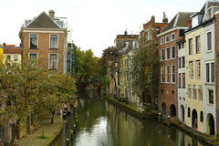 De Kanalen van Utrecht Stock Foto