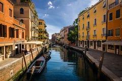 De kanalen van Veneti?, Itali? stock afbeelding