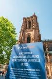 De Kandidatuur van Frankrijk voor Wereldmarkt 2025 royalty-vrije stock fotografie