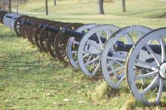 De kanonnen bij het Revolutionaire Oorlogs Nationale Park bij zonsopgang, Vallei smeden, PA Stock Fotografie