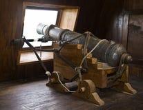 de Kanonnen van het Galjoen van de 17de Eeuw stock foto