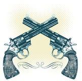 De kanonnen vectorillustratie van de hand stock illustratie