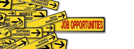 De kansen van de baan Stock Foto's