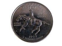 De kant 1999 van de staarten van het Kwart van Delaware de Eerste Staat Royalty-vrije Stock Afbeeldingen