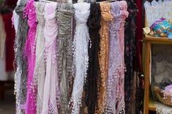 De kant-sjaal van Burano Royalty-vrije Stock Foto