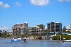 De Kant van de Rivier van de Stad van Brisbane Stock Afbeelding