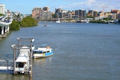 De Kant van de Rivier van de Stad van Brisbane Royalty-vrije Stock Foto's