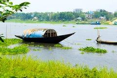 De kant van de Savarrivier, Bangladesh royalty-vrije stock foto's