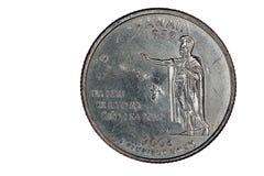 De Kant van de staart van de Close-up van het Kwart van de Staat van de V.S. Hawaï Royalty-vrije Stock Afbeelding