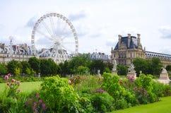 De kant van de Tuileriestuin, Parijs stock afbeeldingen