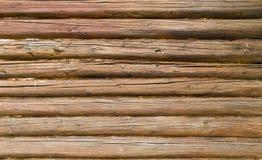 De kant van een logboekgebouw Stock Fotografie