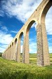 De kant van het aquaduct in Pamplona Stock Afbeelding