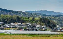 De kant van het land van Nara met MT Ikoma Royalty-vrije Stock Afbeeldingen