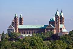 De kant van het zuiden van de roman kathedraal als Speyer, Germa royalty-vrije stock fotografie