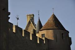 De kantelen van het kasteel Royalty-vrije Stock Afbeeldingen