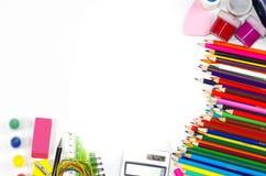 De kantoorbehoeften van de school Royalty-vrije Stock Foto's