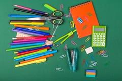 De kantoorbehoeften van de school Royalty-vrije Stock Afbeeldingen