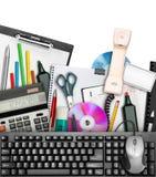 De kantoorbehoeften van het bureau Royalty-vrije Stock Afbeelding