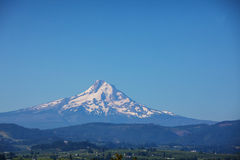 De Kap van MT, Oregon met maan Royalty-vrije Stock Afbeelding