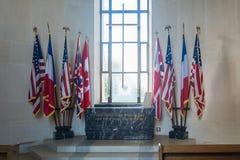 De Kapel bij de Amerikaanse Begraafplaats en het Gedenkteken van Normandië Royalty-vrije Stock Afbeelding