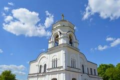 De kapel met een klokketoren Stock Afbeelding