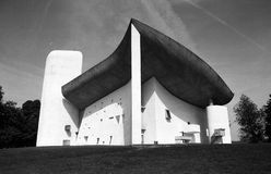 De kapel in Ronchamp Royalty-vrije Stock Foto