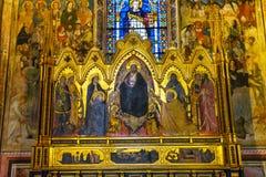 De Kapel Santa Maria Novella Church Florence Italy van Strozzi van de altaarstukverlosser stock afbeeldingen