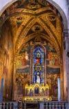 De Kapel Santa Maria Novella Church Florence Italy van Strozzi van de altaarstukverlosser royalty-vrije stock afbeelding