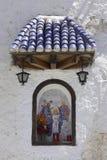 De kapel van Christus in oude muur Stock Afbeeldingen