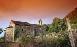 De kapel van Corsica st Christina Stock Foto