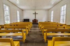De kapel van de Cataloocheevallei, Great Smoky Mountains, Tennessee Stock Foto's