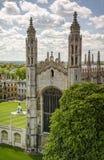 De kapel van de koningenuniversiteit in Cambridge Stock Afbeeldingen