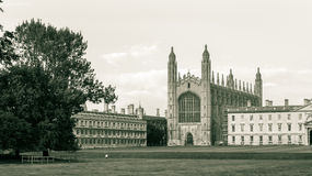 De Kapel van de koningenuniversiteit, zwart-witte fotografie Royalty-vrije Stock Fotografie