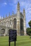 De Kapel van de konings` s Universiteit royalty-vrije stock fotografie