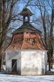 De kapel van de oude begraafplaats Stock Foto