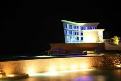 De kapel van de Toevlucht van Guam bij nacht Stock Foto's