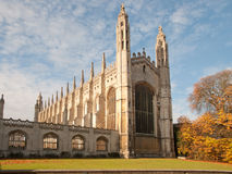 De Kapel van de Universiteit van de koning, Cambridge Stock Foto