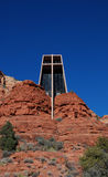 De kapel van het Heilige Kruis dichtbij Sedona, Arizona Stock Foto's