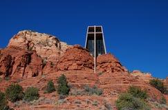 De kapel van het Heilige Kruis dichtbij Sedona, Arizona Stock Foto