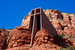 De kapel van het Heilige Kruis, Sedona, Arizona stock afbeeldingen