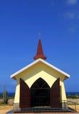 De kapel van het Uitzicht Alta in Aruba Stock Afbeeldingen