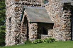 De Kapel van het valleiweergeven - Steenkerk in Ticonderoga, NY royalty-vrije stock fotografie