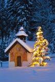 De kapel van Kerstmis Stock Fotografie